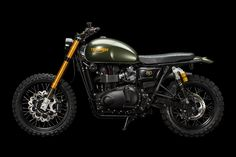 This heavily upgraded 2014 Triumph Scrambler prowls the streets of Zürich and puts out > build by JVB Moto Triumph Scrambler, Triumph Cafe Racer, Street Scrambler, Scrambler Motorcycle, Triumph Bonneville, Triumph Motorcycles, Custom Motorcycles, Custom Bikes, Triumph 900