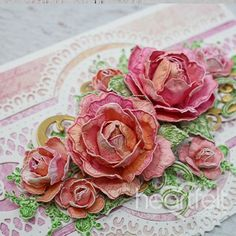Petite Pocket Roses Handmade All Occasions Card - This card is perfect for giving to a loved one, or just keeping it all to yourself! Pin Now! Flower Cards, Paper Flowers, Tissue Flowers, Fabric Flowers, Card Making Kits, Making Ideas, Paper Craft Supplies, Paper Crafts, Heartfelt Creations Cards