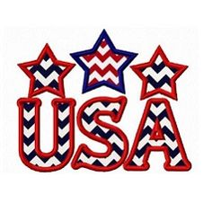 USA Applique - 3 Sizes! | Words and Phrases | Machine Embroidery Designs | SWAKembroidery.com Fun Stitch