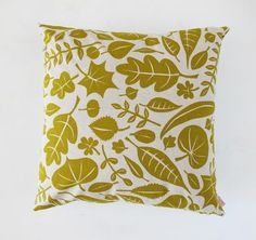 Skinny LaMinx Leaves Cushion Cover Gold from Design My World