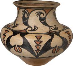 San Ildefonso Polychrome Storage Jar c. 1910