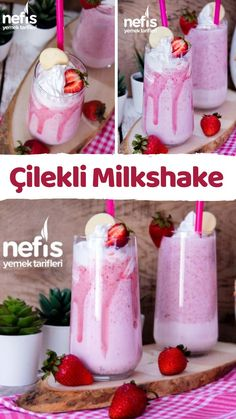 Turkish Recipes, Slushies, Homemade Beauty Products, Chocolate Coffee, Diet Meal Plans, Fruit Smoothies, Cold Drinks, Milkshake, Delicious Desserts