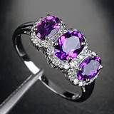 Purple Vintage Engagement Rings