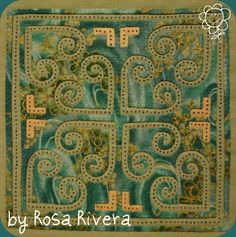 Hmong reverse applique with embroidery, a lovely piece, posted by Rosa Rivera at Vida de curiosa