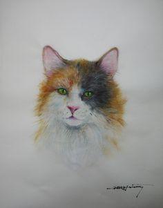 空想/幻想画「幸せを呼ぶ猫」[N-EVA] | ART-Meter