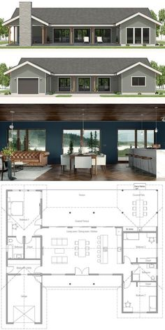 Small House Plan, Home Plans, Floor Plans, Lake House Plans, House Layout Plans, Dream House Plans, Small House Plans, House Layouts, House Floor Plans, House Floor Plan Design, U Shaped House Plans, U Shaped Houses