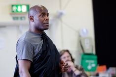 Paterson Joseph in rehearsal for Julius Caesar.  Photo by Kwame Lestrade.