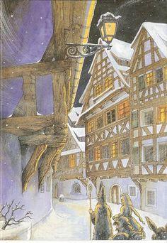 Dessins deNoël en Alsace, selon Pat Thiébaut (dessinateur Mutzigeois):