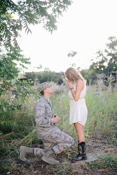 military proposal. Everything about this is just about the most romantic it could get in my opinion.