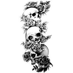 Posts about CAS: Tattoo templates written by Noah 3 4 Sleeve Tattoo, Skull Sleeve Tattoos, 4 Tattoo, Dope Tattoos, Body Art Tattoos, Tattoos For Guys, Back Tattoo Women, Sleeve Tattoos For Women, Cool Skull Drawings