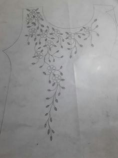 Ribbon Embroidery Flowers by Hand - Embroidery Patterns - रोहिणी - Embroidery On Kurtis, Kurti Embroidery Design, Embroidery Neck Designs, Floral Embroidery Patterns, Hand Embroidery Dress, Hand Embroidery Stitches, Silk Ribbon Embroidery, Crewel Embroidery, Vintage Embroidery