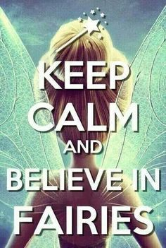 Believe in fairies (I need to get a poster of this for Emily's room)