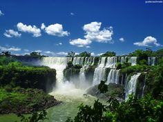 Iguassu Falls, Brazil. Almost made it here once, won't miss it next time around