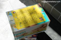 Ding Dong DIAPER Ditch...LOVE this idea to drop off dinner and diapers without bothering the new parents!