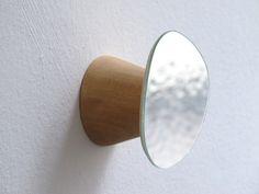 patère miroir petit modèle, design Maxime Abela pour Reine Mère
