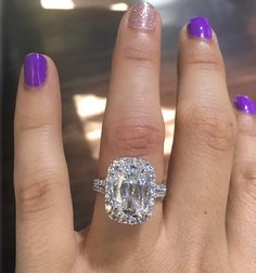 Henri Daussi AMDS076 4.26ct Diamond Engagement Ring