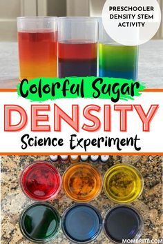 Density is a concept most preschooler and elementary schooler will find hard to grasp. Try this Rainbow Sugar water tower science experiment to easily demonstrate how sugar density impacts whether an object floats or sinks.