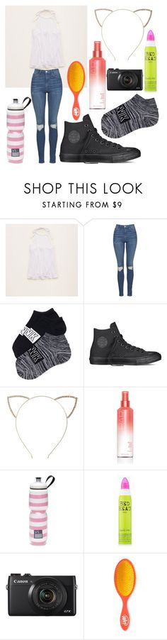 """Untitled #84"" by princess-sugar ❤ liked on Polyvore featuring Aerie, Topshop, Converse, Cara, Victoria's Secret and TIGI"
