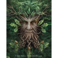 Small Oak King Canvas Picture by Anne Stokes. Small OAK King Canvas Picture by Anne Stokes. Designed by Anne Stokes. Anne Stokes, Natur Tattoos, Bild Tattoos, Celtic Art, Celtic Symbols, Summer Solstice, Summer Equinox, Magical Creatures, Gods And Goddesses