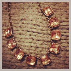Rectangular Glam Strand Collar Necklace by Chloe + Isabel