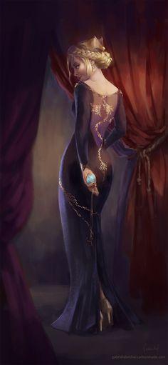 Lady in the Dragon Dress by Gabriela-Birchal on DeviantArt