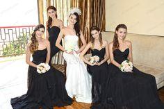 eDressit 2016 New Arrivals Strapless Black Full Length Elegant Bridesmaid Dress Evening Dresses Shop: www.edressit.com