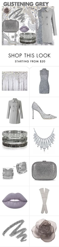 """Glistening Grey"" by honeybiscot ❤ liked on Polyvore featuring Yosemite Home Décor, Harrods, Miss Selfridge, Jimmy Choo, Bernard Delettrez, Bling Jewelry, Kate Spade, STELLA McCARTNEY, Lime Crime and Free People"