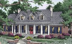 Cape Cod Colonial Southern House Plan 40018