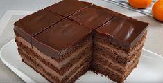 Chocolate cake with curd cream Ingredients Chocolate sponge cake 4 eggs sugar sour cream cup 200 ml. Cake Recipes, Dessert Recipes, Desserts, Amazing Food Art, Chocolate Sponge Cake, Cooking Chocolate, Brownie Cake, Food Cakes, Tiramisu