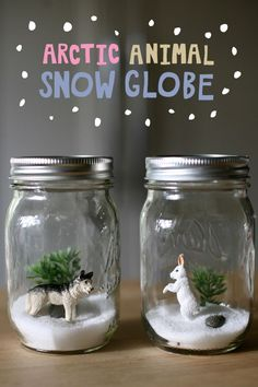 Tutorial for these cute Artic winter scenes for kids! DIY and science lesson!