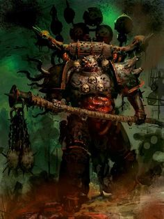 - Chaos Lord of Nurgle (by Unknown) Warhammer Fantasy, Warhammer 40k Rpg, Chaos Lord, Chaos 40k, Aliens, Martial, The Embrace, Dark Fantasy Art, Fantasy Artwork