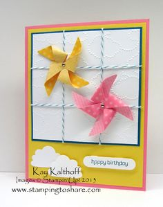 Stamping to Share: 2/22 Birthday Pinwheels with Video