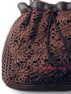 Схема и описание элегантной сумки крючком. Как связать красивую сумочку крючком Bucket Bag