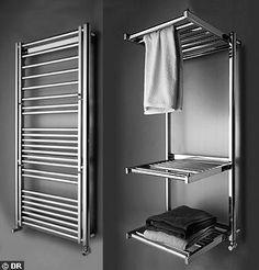 √ Delightful Bathroom Storage Vanity Decor Ideas That Actually Makes Sense In. Bathroom Baskets, Small Bathroom Storage, Laundry Room Storage, Laundry Room Design, Laundry In Bathroom, Basement Bathroom, Clothes Drying Racks, Drying Rack Laundry, Towel Warmer