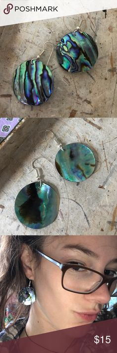 Abalone Sea Shell Circle Earrings Mermaid Mermaid polka dots for your ears in new condition. Medium size. Light weight. Shine bright. Waves. Beach girl. 🌊 waterfall climber. Ocean breeze. Mother of pearl Chico's Jewelry Earrings