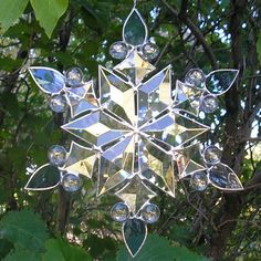 Stained Glass Snowflake 2 by CeltCraft.deviantart.com