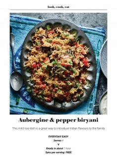 Biryani, Slimming World, Vegetable Recipes, Quiche, Beef, Stuffed Peppers, Magazine, Vegetables, Breakfast