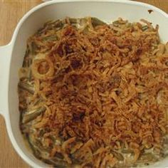 Never Enough Green Bean Casserole  The jury is out about the Velveeta Cheese but a twist on the regular ol' green been cassarole has me intrigued enough to consider this.