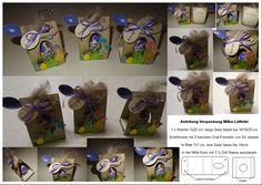 Stampin up Anleitung SU Verpackung Milka Löffelei Ei Schokolade Ostern Box Osterüberraschung Überraschungsei Kinderüberraschung Hühnerei Osterei Ostergeschenk Mitbringsel Giveaway Box Gelbe vom Ei Osterkörbchen Materialliste Bastelanleitung