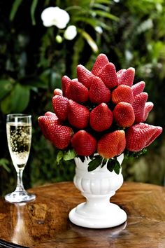 Strawberries and champagne....yum