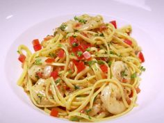 """SHRIMP SCAMPI RECIPE: ~ From: """"Food Network.Com."""" ~ Recipe Courtesy Of: ROBERT IRVINE (Restaurant Impossible - Sapori D'italia 2012) ~ Prep.Time: 15 min; Cook.Time: 10 min; Total Time: 25 min; Level: Easy; Yield: (4 servings)."""