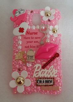 Nurse Hello Kitty Barbie Case for iPhone 4 5 6 Samsung 2 3 4 5 Note Lg Fluffy Phone Cases, Bling Phone Cases, Girl Phone Cases, Cute Phone Cases, Phone Case Store, Diy Phone Case, Cellphone Case, Iphone 4, Iphone Cases