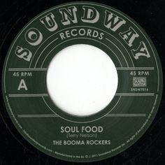 """BOOMA ROCKERS & JEAN MANIX & TED OSAI / SOUL FOOD  Soundwayからの再発版。  60年代後半~70年代初頭にかけてロンドンで活動していた  ガイアナ共和国出身のカリブ系移民Terry NelsonことOmar Faroukが  運営したレーベル【Halagala】のかくれ名曲。  Soundwayってすごい。  めっちゃトロピカルなカリビアンチューンなので、midnight以外で  かけたいもんです。  """"Booma Woman""""はキャッチーなメロディとリリックが頭に残る  スカチュ~ン。"""