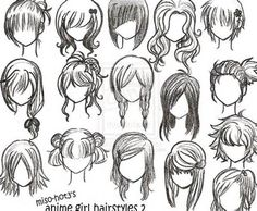 How To Draw Anime Hair - LiLz.eu - Tattoo DE