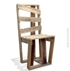 Crate Chair - this looks like the one I would build adding a new meaning to DIY--a statement!