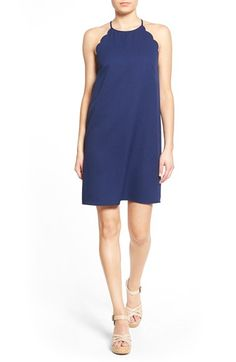Everly Scalloped Trim Shift Dress available at #Nordstrom