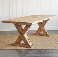 Dining Room Table Plans - The Wood Grain Cottage Diy Farmhouse Table, Rustic Table, Wood Table, Trestle Table Plans, Trestle Dining Tables, Rustic Furniture, Diy Furniture, Diy Dining Room Table, Dining Rooms