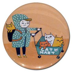 Cat Mart Pocket Mirror - $6 at heykittykitty.com