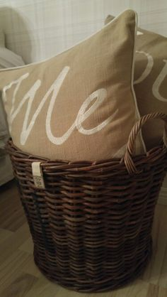 ❤ Laundry Basket, Wicker, Burlap, Reusable Tote Bags, Sweet, Decor, Home, Candy, Decoration
