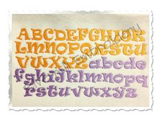 Ravie Machine Embroidery Font Monogram by RivermillEmbroidery